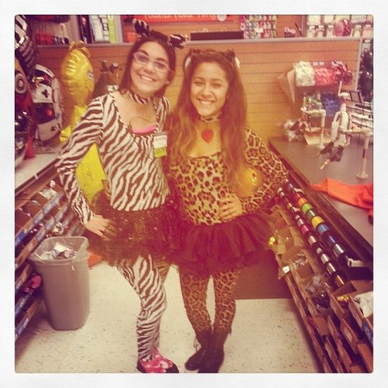 Wild animals behind the balloon counter ... It must be Halloween at Party City!