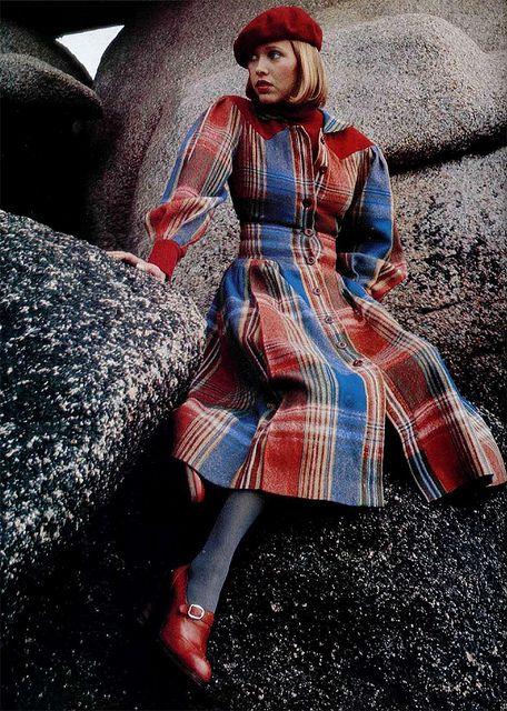 cacharel plaid coat dress