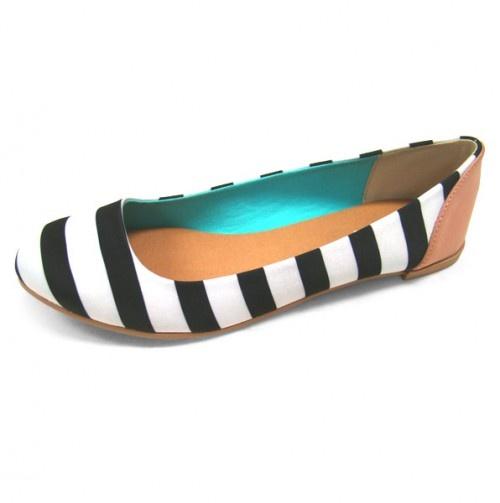 Striped Qupid Flats