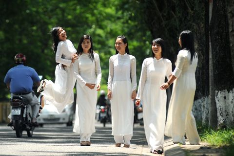 The first impression about Ha Noi are Ao Dai design with Silk