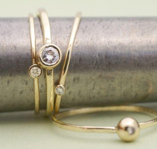 little diamond rings