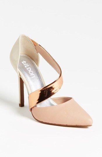 Killer heel. White, gold, & blush.