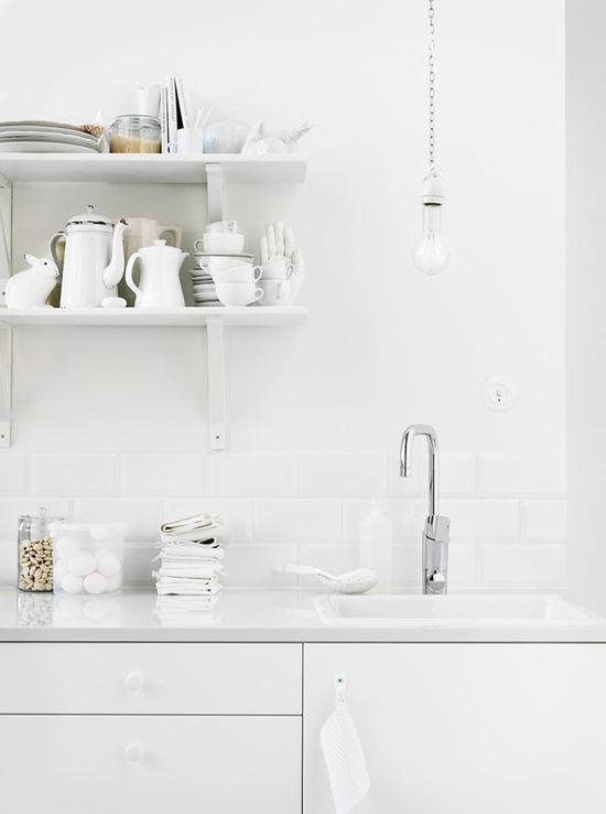 Basic white kitchen