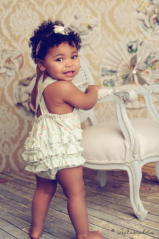 Baby Girl Sunsuit Romper Bubble with by CharmingNecessities