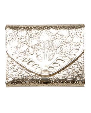A.P.C.  metallic leather tree wallet