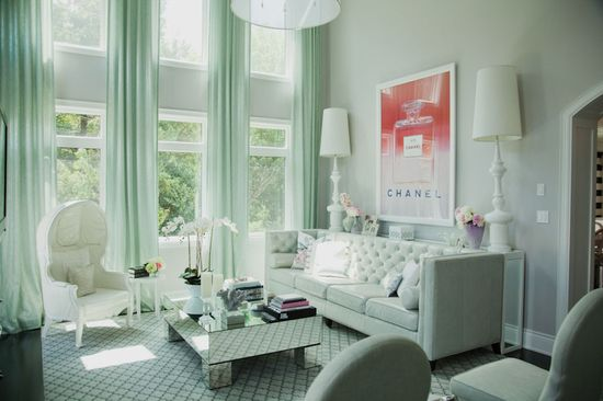 Chic and feminine living room designed by Billy Halpern