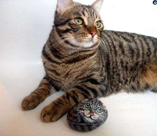 A pet rock for your pet, of your pet!  ;)  By ShebboDesign...........seriously?? Haha