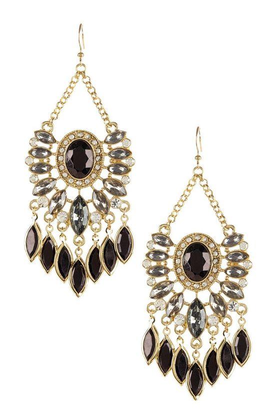 Jewel Chandelier Earrings