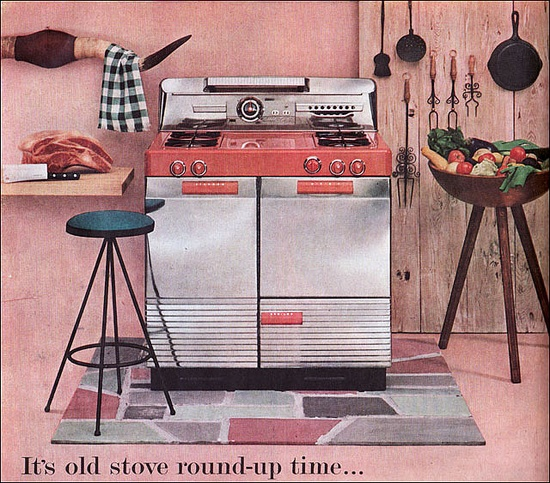 I have never seen one of these models before. AMAZING! 1954 Magic Chef