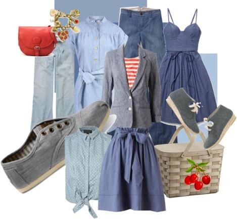 summer fashion chambray
