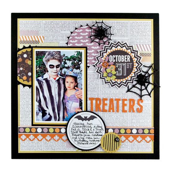 #papercraft #scrapbook #layout October 31 featuring the Bewitched Collection from We R Memory Keepers - Scrapbook.com