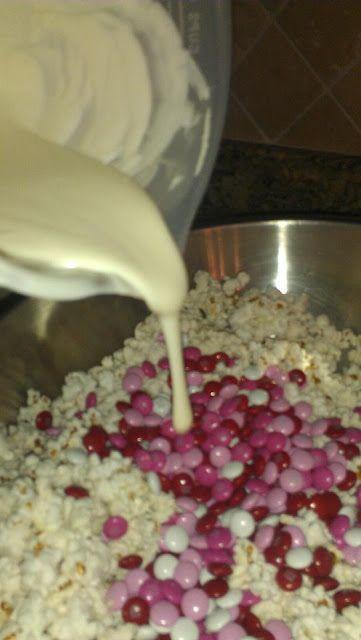 White Chocolate M& M Popcorn