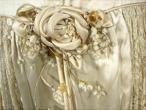 c. 1920's Panier Dress, detail