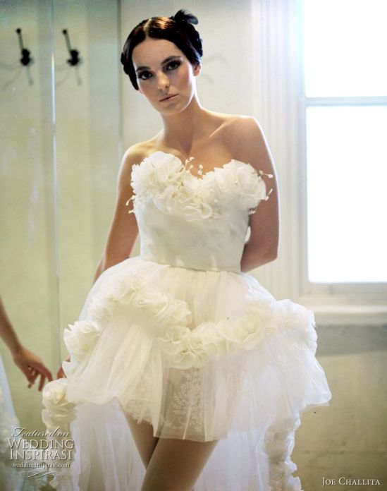 Cute short Wedding Dress