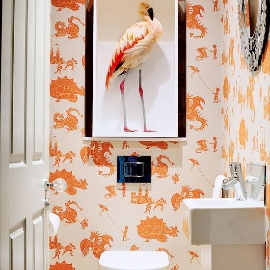 Flamingo & Geometric wallpaper