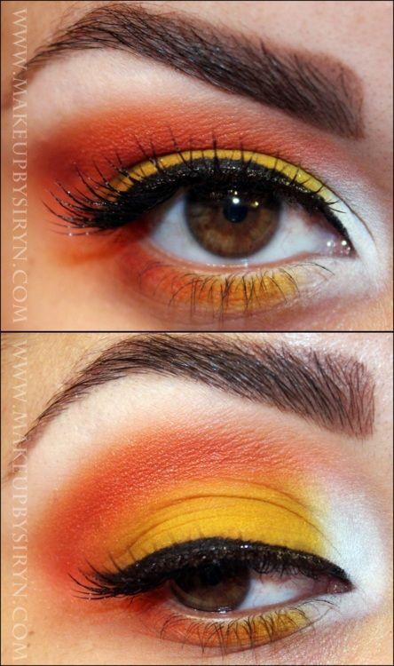 Candy Corn makeup!
