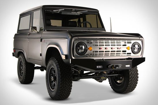 ICON BRONCO  First the FJ, then the CJ, and now this. The Icon Bronco ($150,000-$195,000 + $7,500-$15,000 for the vintage Bronco) completes an off-road retro trifecta for the company, with this lastest entry based on Ford's first-gen off-road beauty. Designed by Icon's Jonathan Ward with help from Ford designer Camilo Pardo and an all-star team from Nike, this thing has a an assortment of amazing features, including a Ford-sourced Coyote 5.0L V8 engine (currently found in the new Mustang GT)