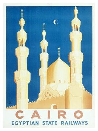 Cairo : The Egyptian State Railway vintage travel poster
