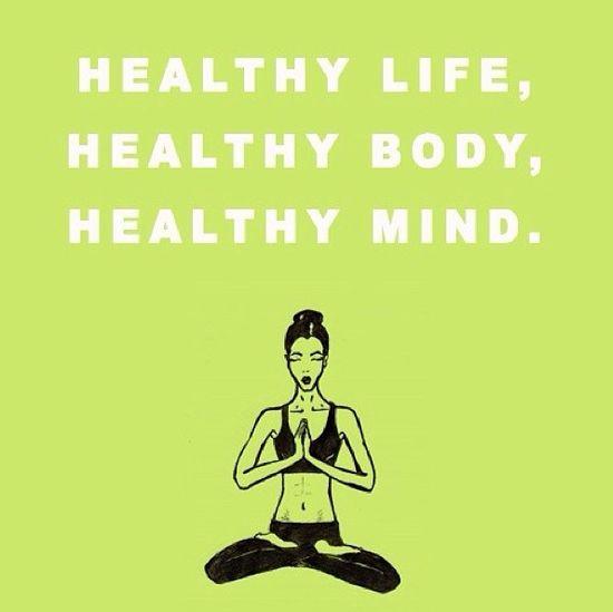 healthy life. healthy body. healthy mind