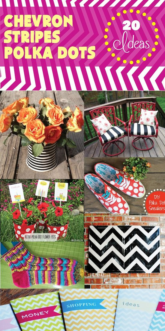 Do It Yourself Projects: Chevron, Stripes, Polka Dots #DIY