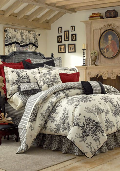 toile bedding and linens