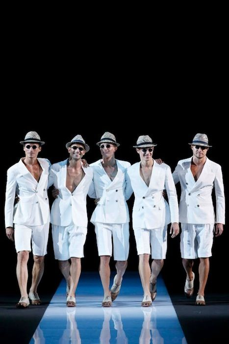 Giorgio Armani Spring-Summer 2013 in Men's Fashion Week in Milan - Seasonal Trend 2014 - We're guessing this will be huge - Hats off to Armani!