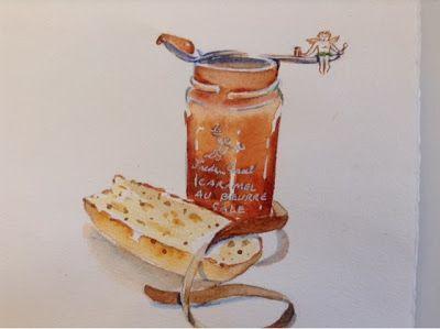 paris breakfasts: Caramel au Beurre Sale again