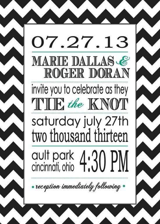 Trendy DIY Wedding invitations