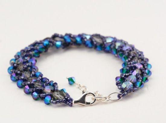 Blue Jewelry Crystal Bracelet Sapphire Blue by JacarandaDesigns