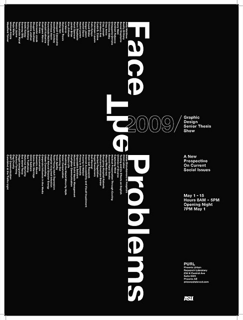Senior Thesis Show Poster by nevinspontious, via Flickr
