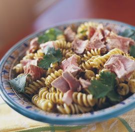 Moroccan Pasta with Grilled Tuna: Bold Moroccan flavors—cumin, cayenne, garlic, cilantro, lemon—make this cool pasta a natural partner for grilled or seared tuna. Via FineCooking