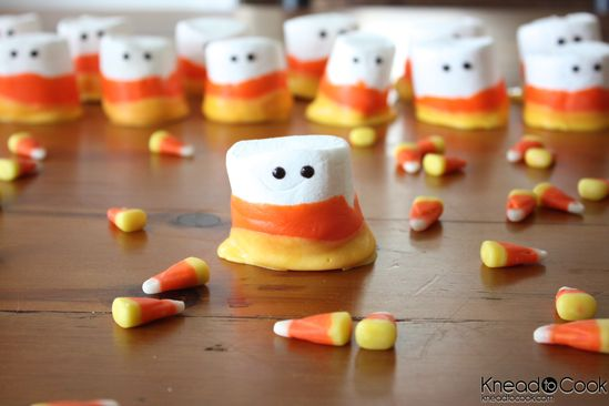 Candy Corn Marshmallow People
