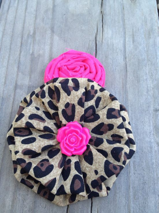 Leopard & Hot Pink. hair accessories