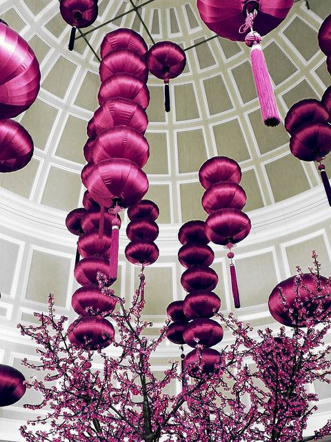 Silk Lanterns Ceiling Decor