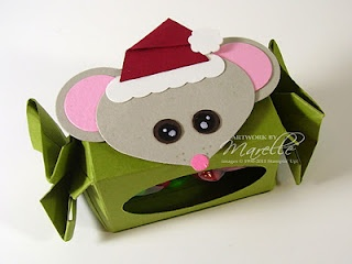 Stampin' Up!  Ornament Punch  Marelle Taylor  Christmas Mouse