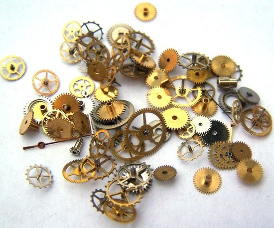 Steampunk Watch Parts  75 small vintage mixed watch by AllGearedUp, $15.99
