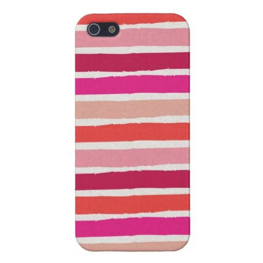 Berry Stripes iPhone 5 Case
