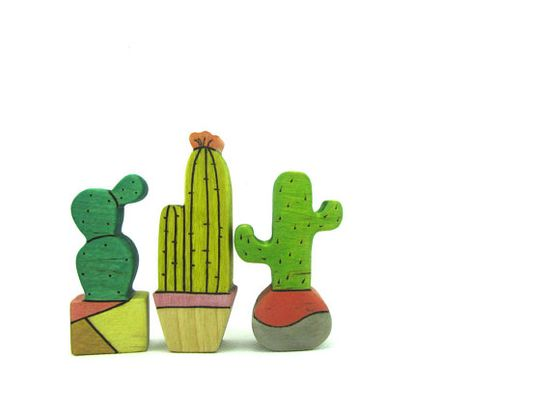 Cactus Toy  Wooden Toy   Toy Plants   Waldorf Toy Home decor Garden decor Table decoration by WoodenfulToys