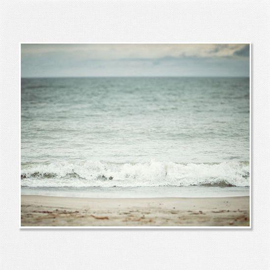 Beach Picture - Beach Decor - Blue Photo - Ocean Art - Nautical Home Decor - Blue, teal, aqua, pastel blue, baby blue - 8x10.. $28.00, via Etsy.