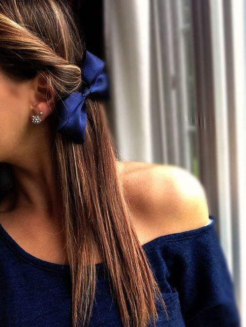 silky bow hair accessories