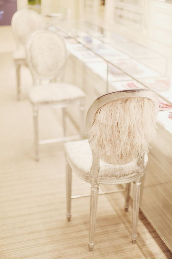 beautiful dior feathery chairs