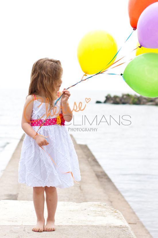 Child Photography - cute little girl with balloons :)