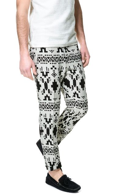 ETHNIC PRINT TROUSERS from Zara  men's fashion summer 2013 #men #fashion #clothes #pants