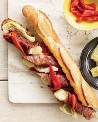 Double-Grilled Antipasto Sandwiches // More Hot Melted Sandwiches: www.foodandwine.c... #foodandwine