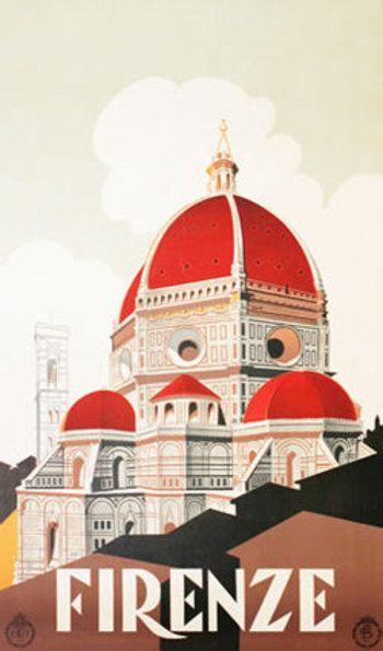 Vintage Italian travel poster: Firenze  #vintage #travel #poster #italia