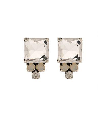 Kaleidoscope Crystal And Opal Stud Earrings - JewelMint