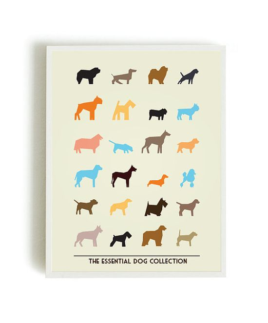 Posters Prints dogs prints dogs collection red by angelaferrara