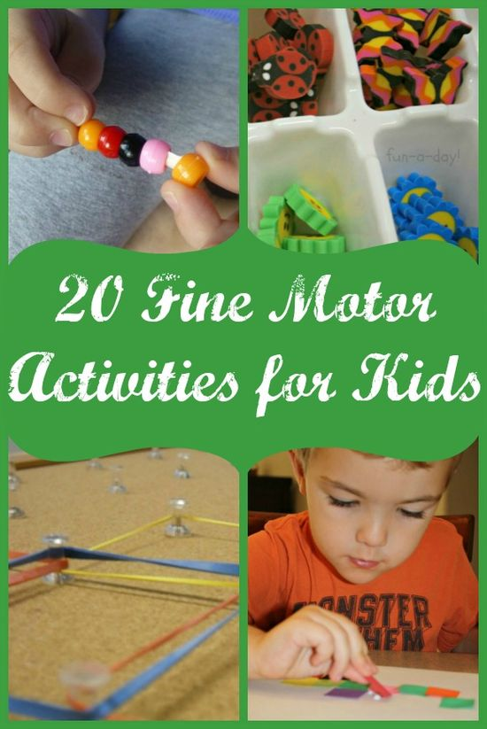 20 Fine Motor Activities for Kids!