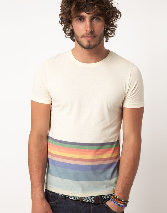 rainbow tee