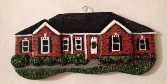 Custom House Ornament  Handmade house by MadeFromScratchMom, $45.00